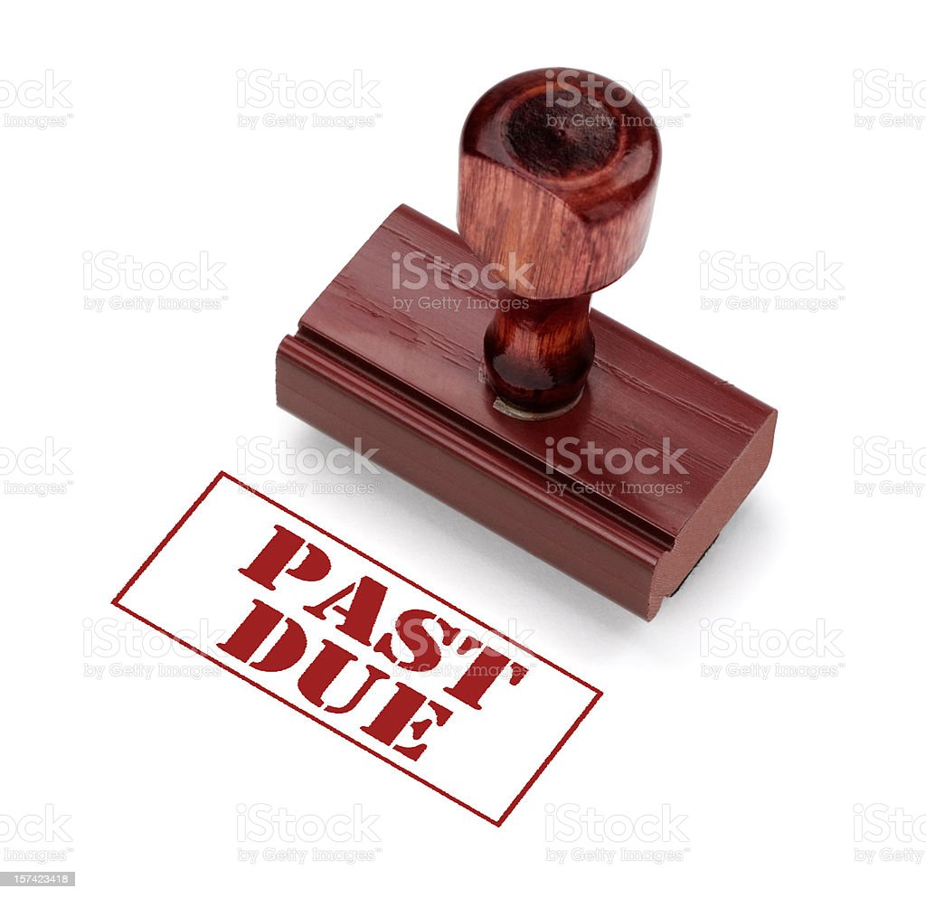 Payment is Past Due stock photo