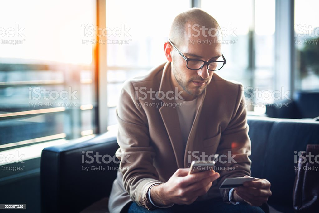 Payment online stock photo