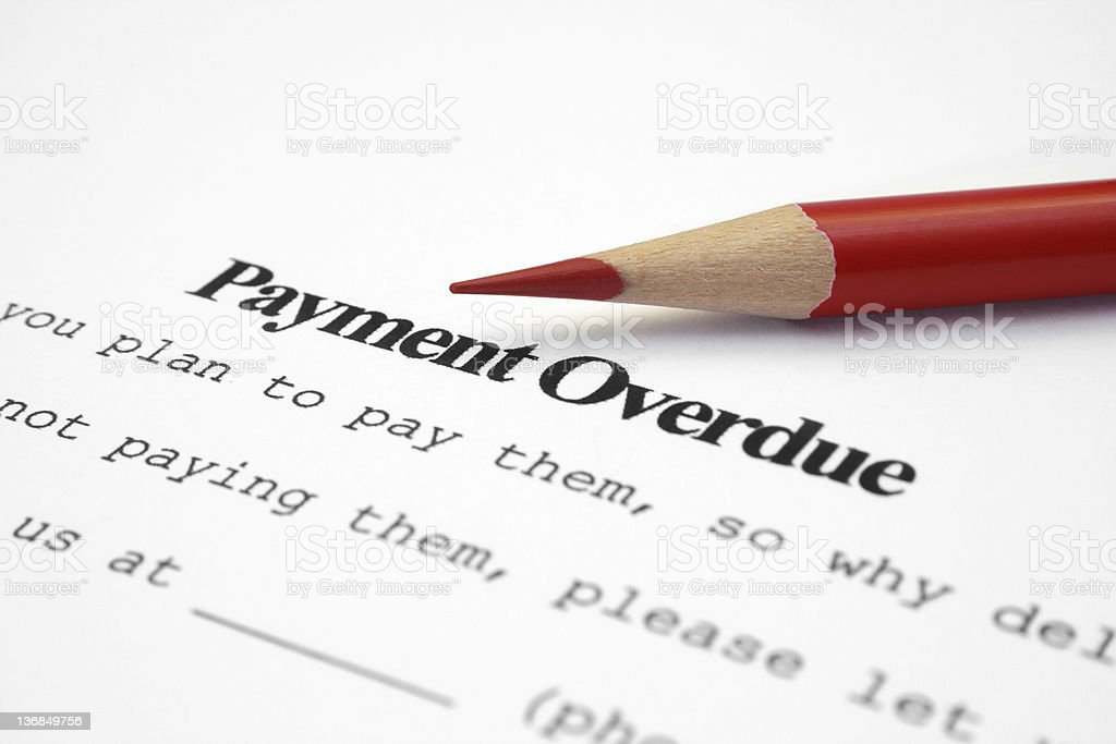 Payment overdue royalty-free stock photo
