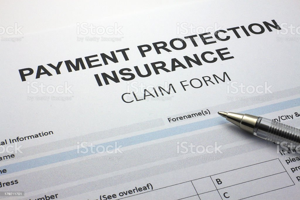 Payment Protection Insurance (PPI) Claim Form royalty-free stock photo