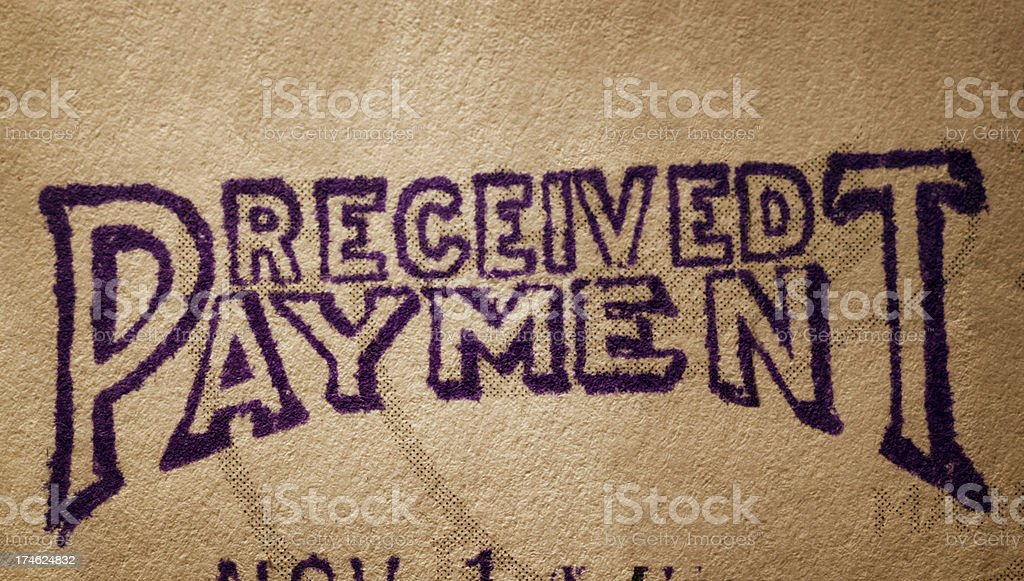 Payment Received royalty-free stock photo
