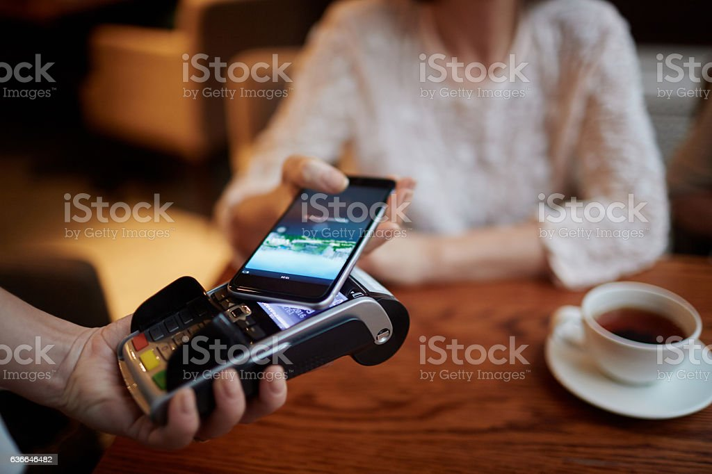 Payment technology stock photo