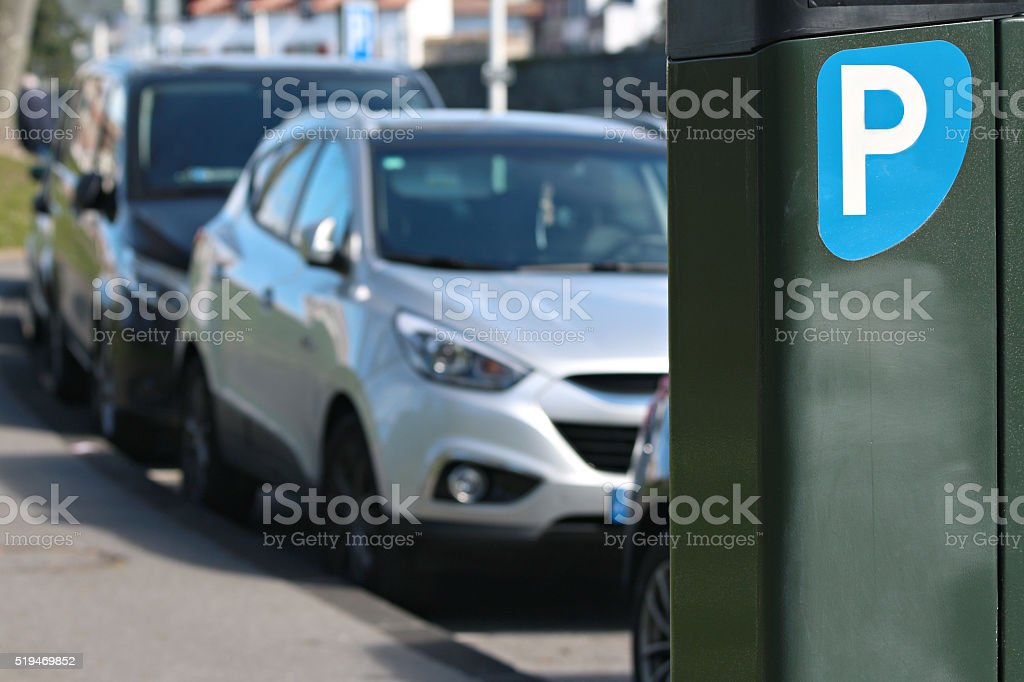 payment terminal parking stock photo