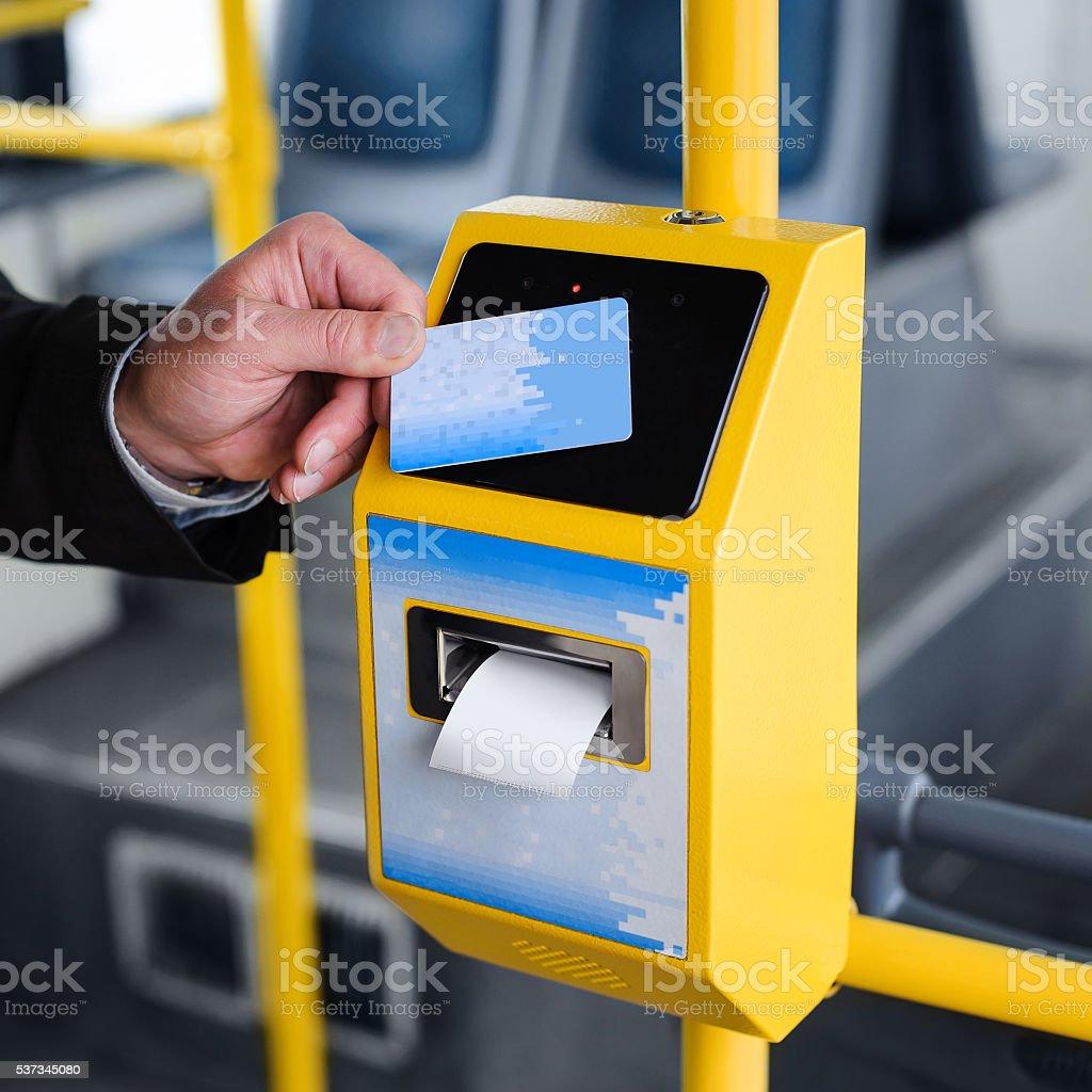 Payment terminal stock photo