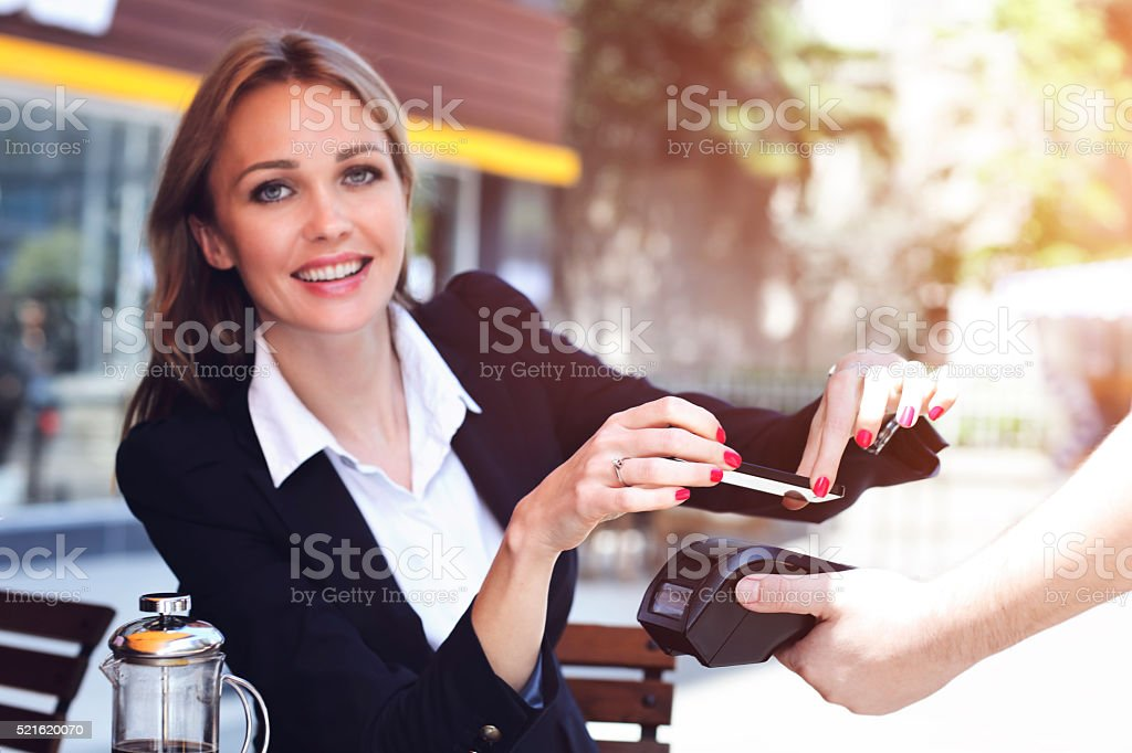 Payments are easier than ever! stock photo