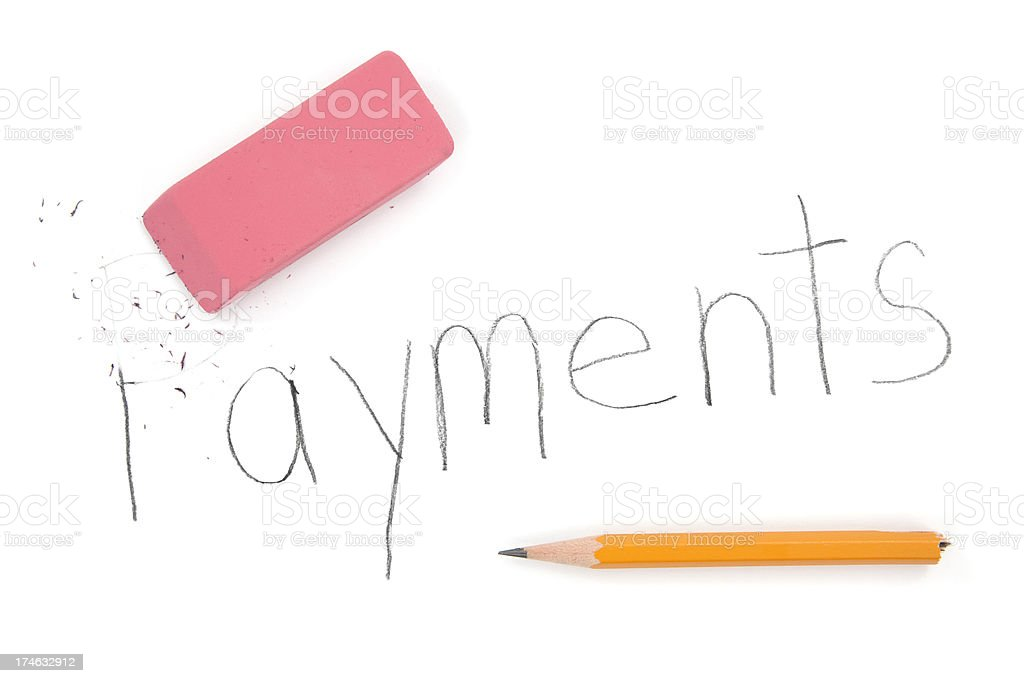 Payments Eraser royalty-free stock photo