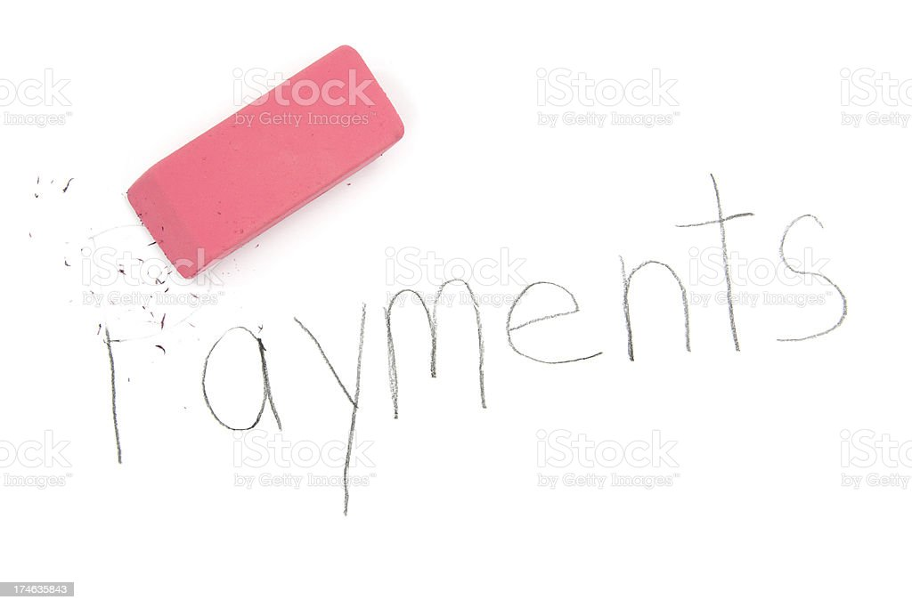 Payments Eraser stock photo