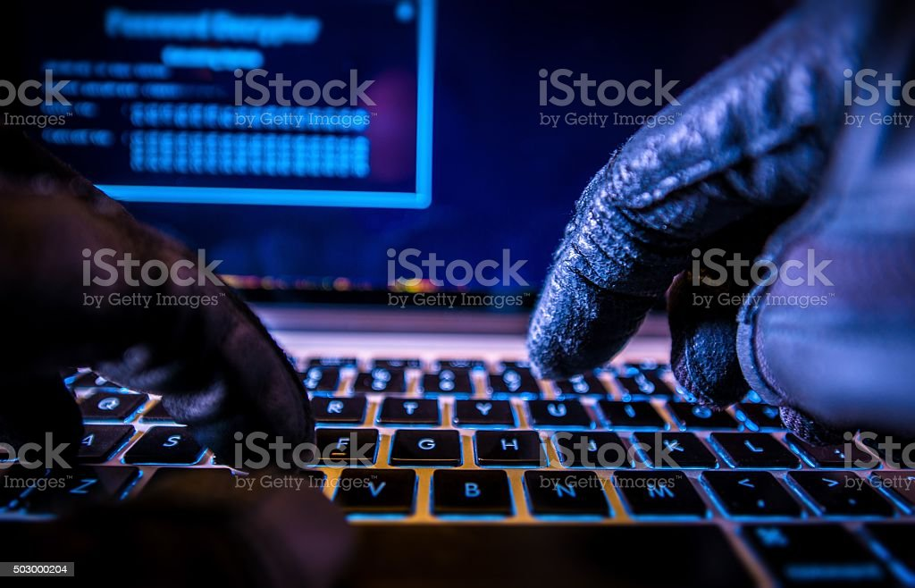 Payments System Hacking stock photo