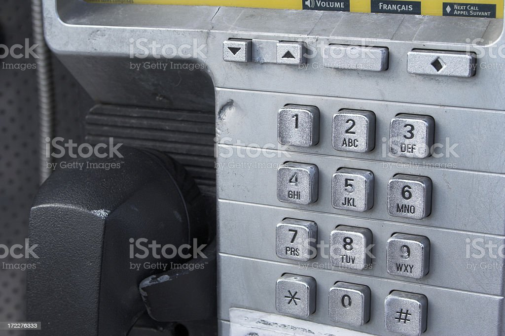 Payphone Detail royalty-free stock photo