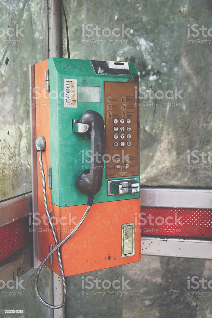 payphone in Thailand stock photo