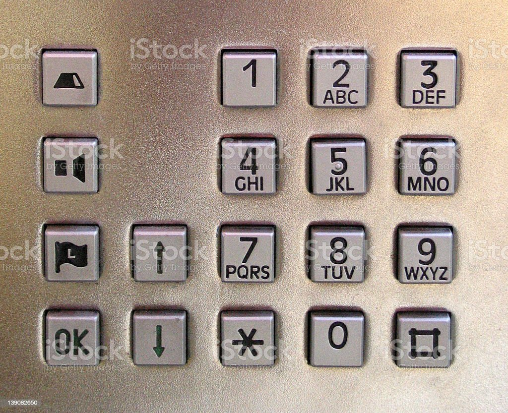 payphone - number pad stock photo