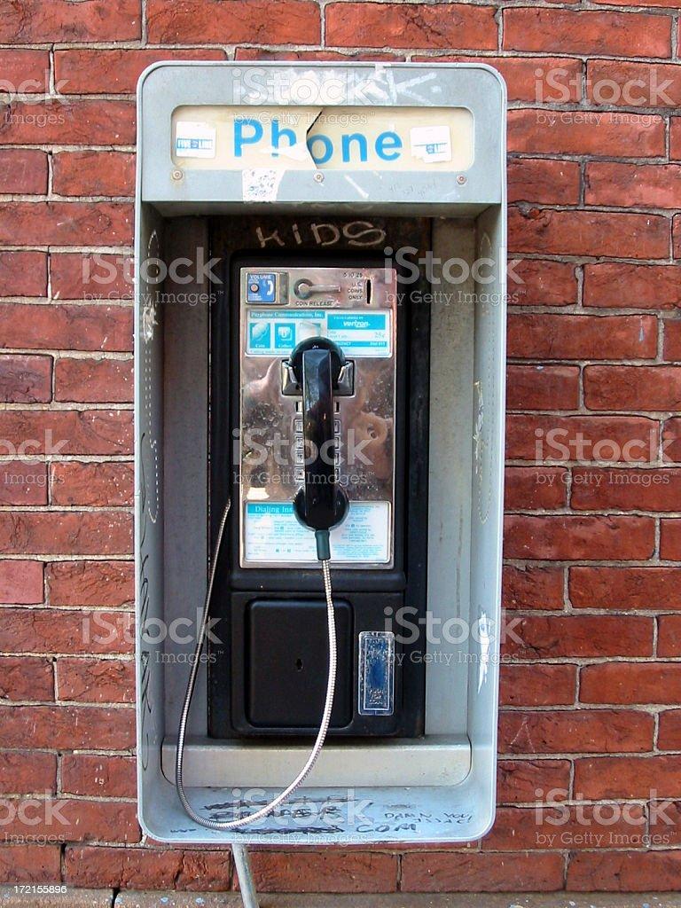 payphone (kids) stock photo