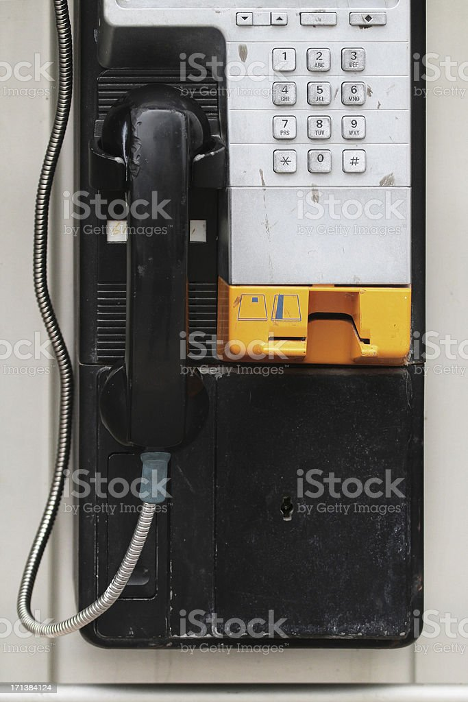 Payphone with credit card slot royalty-free stock photo