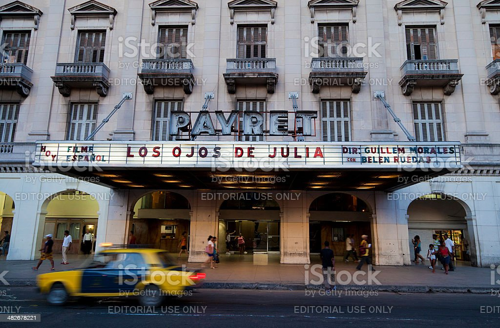 Payret Theater in Old Habana stock photo