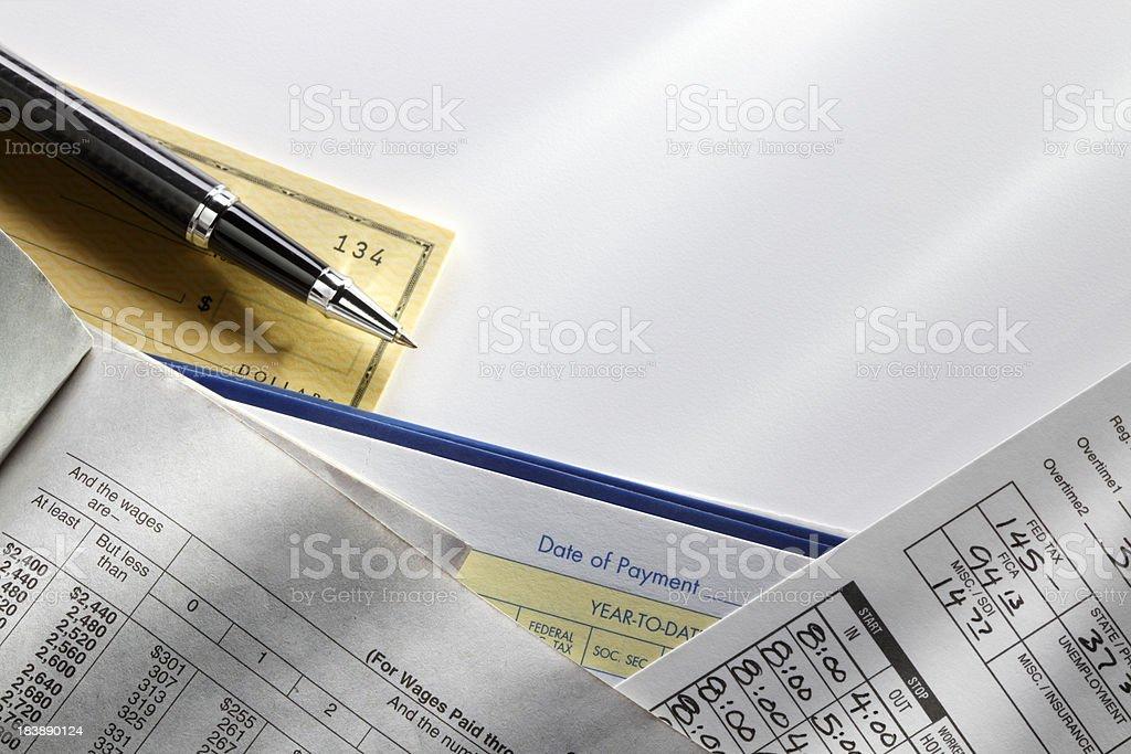 Payroll royalty-free stock photo