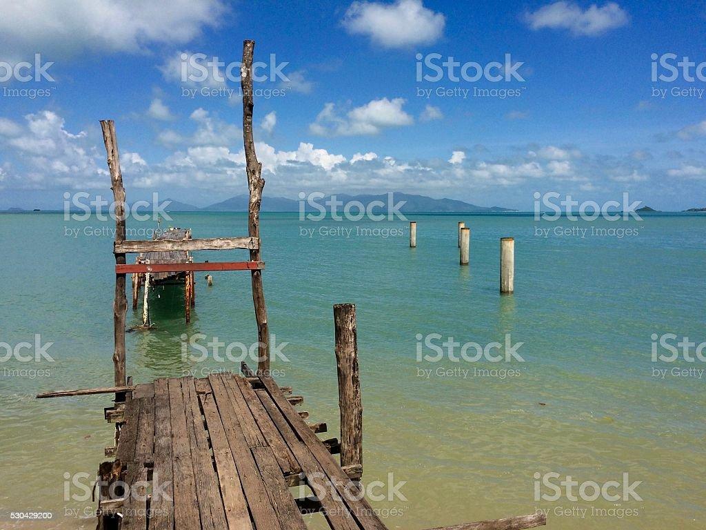 Paysage authentique de l'île paradisiaque de Koh Samui stock photo