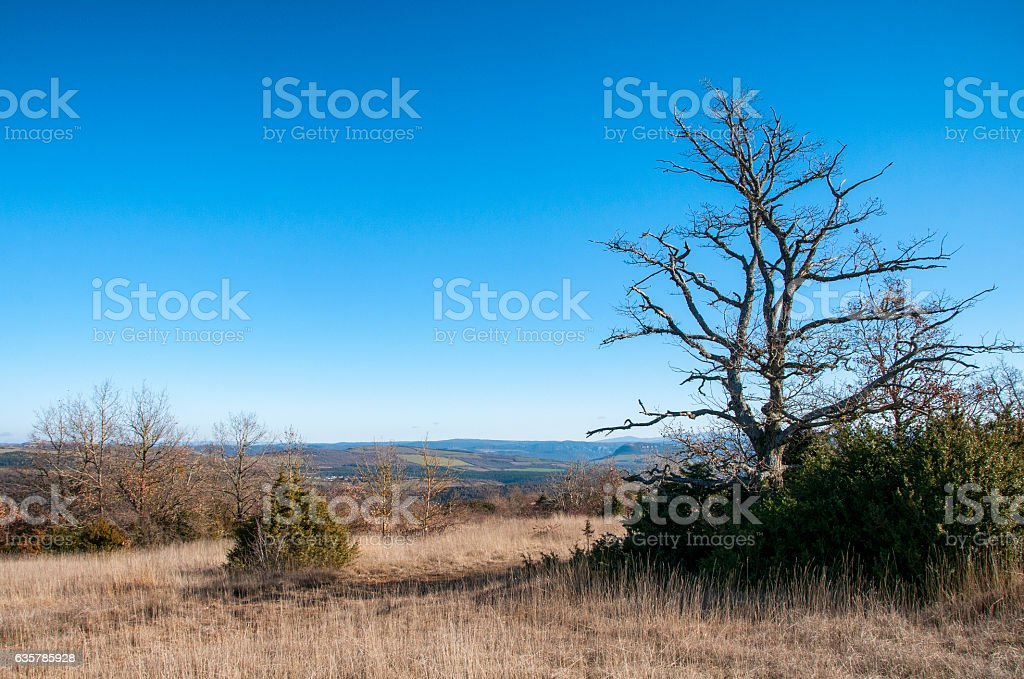 paysage du Quercy stock photo