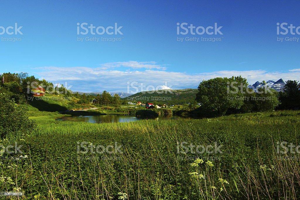 Paysage norv?gien stock photo