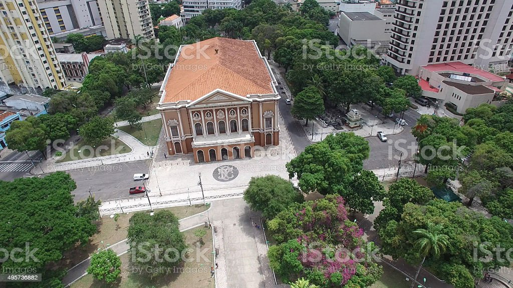 Paz Theater in Belem do Para, Brazil stock photo