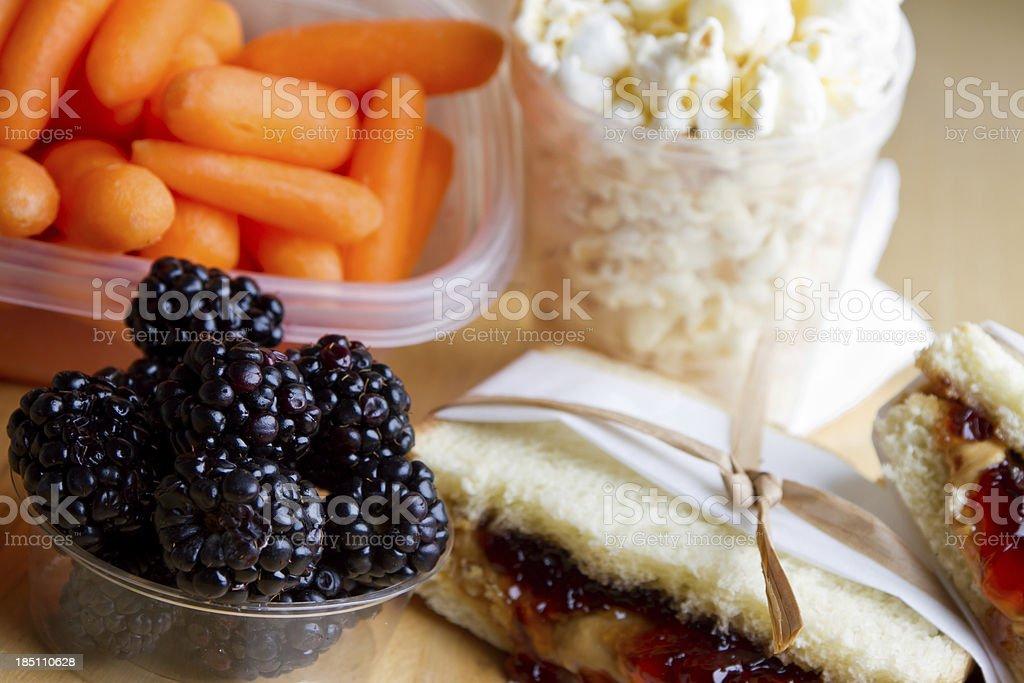 PB&J Lunch royalty-free stock photo