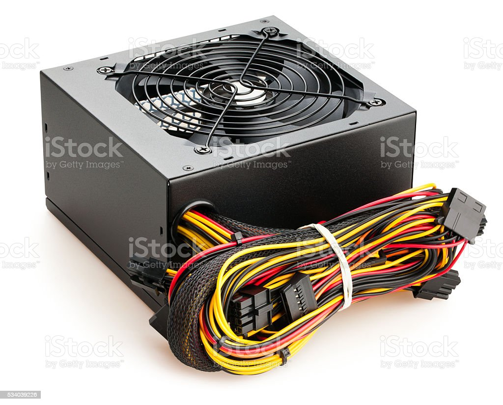 pc power supply stock photo