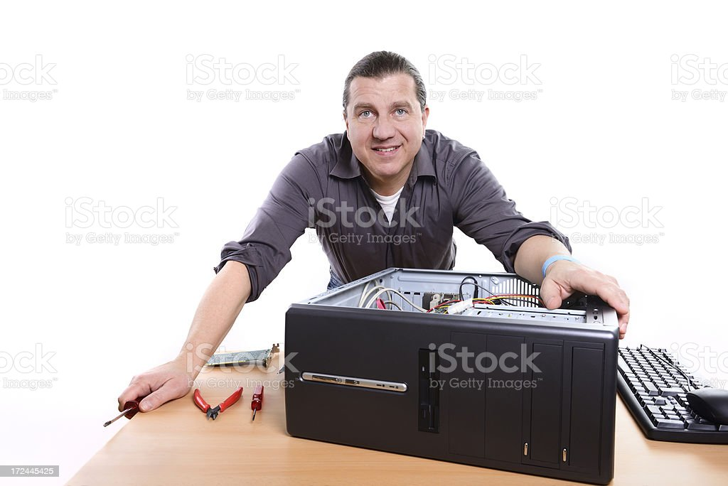 pc support royalty-free stock photo