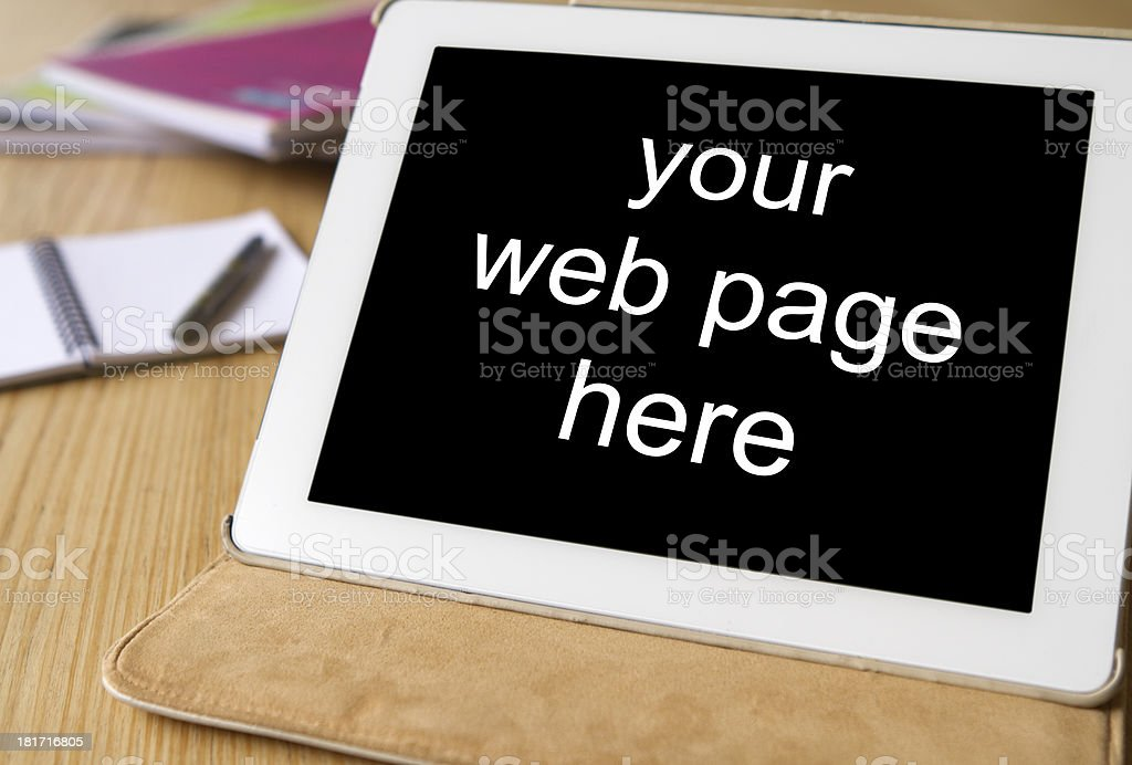 pc tablet black screen for your website royalty-free stock photo