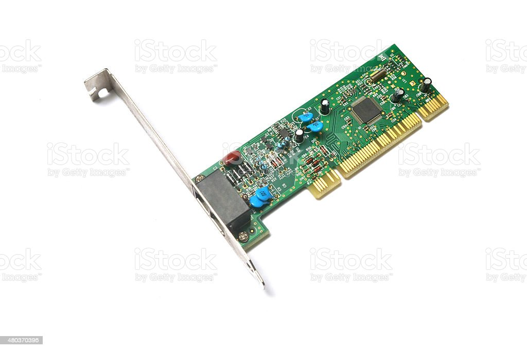 pci network card stock photo