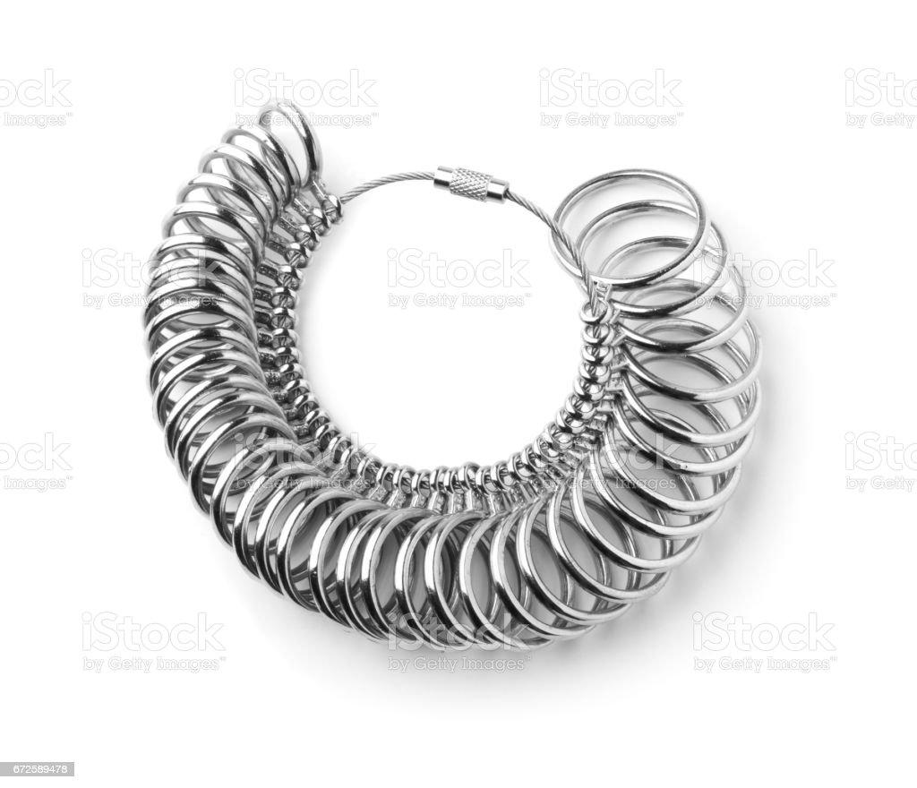 36 Pcs Finger Sizer Metal Ring Gauge Measurer Jewellry Standard Tool stock photo