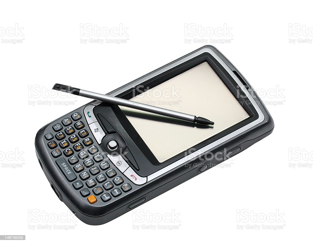 Pda and pen royalty-free stock photo