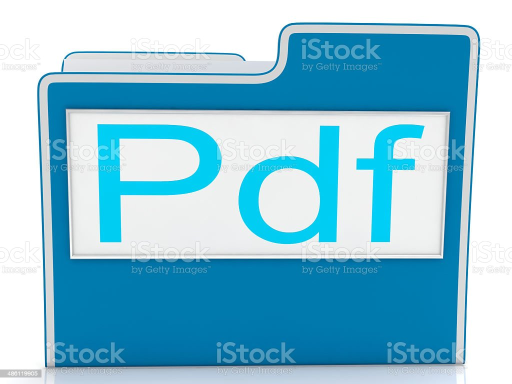 Pdf File Shows Document Format Or Files stock photo