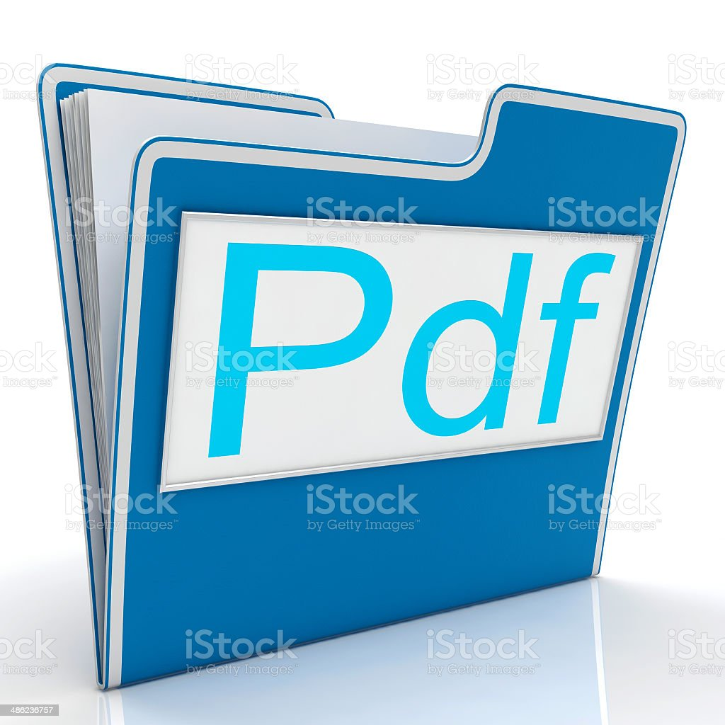 Pdf File Shows Documents Format Or Files stock photo