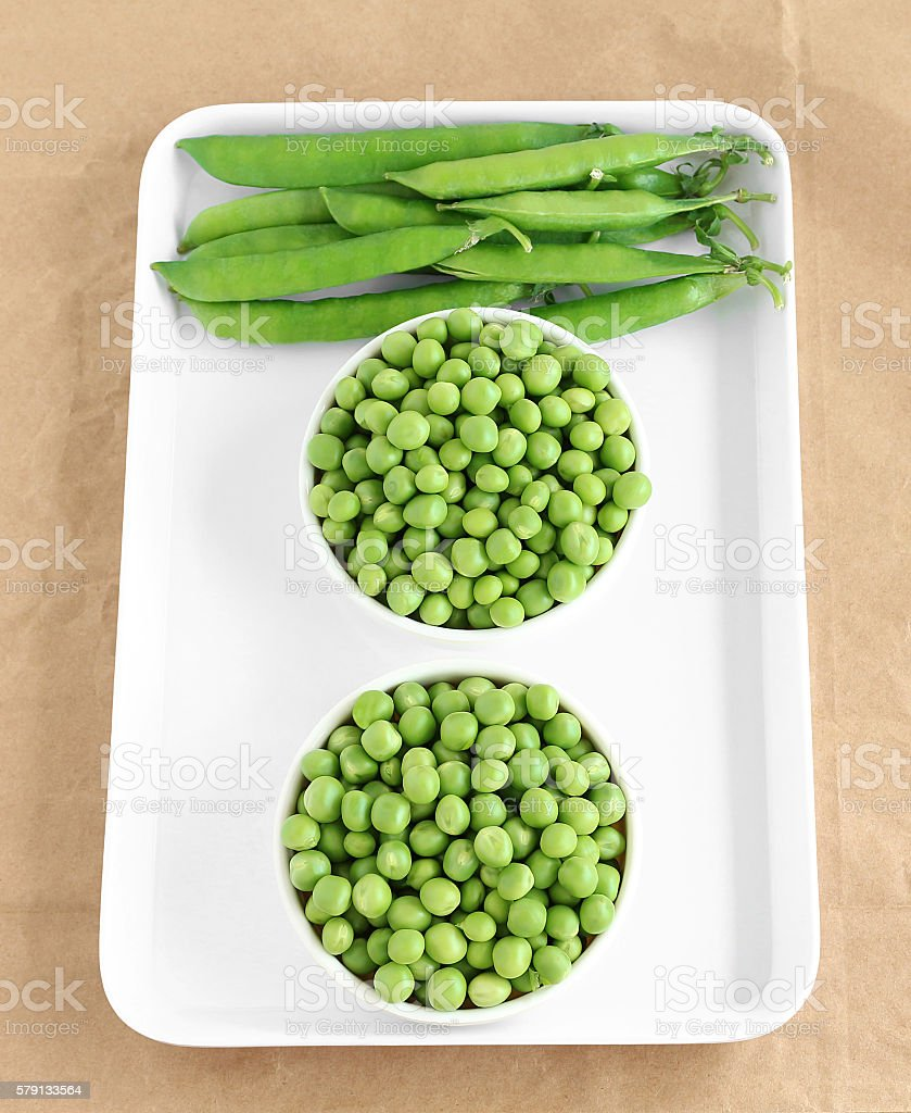 Pea and Pea Pods stock photo