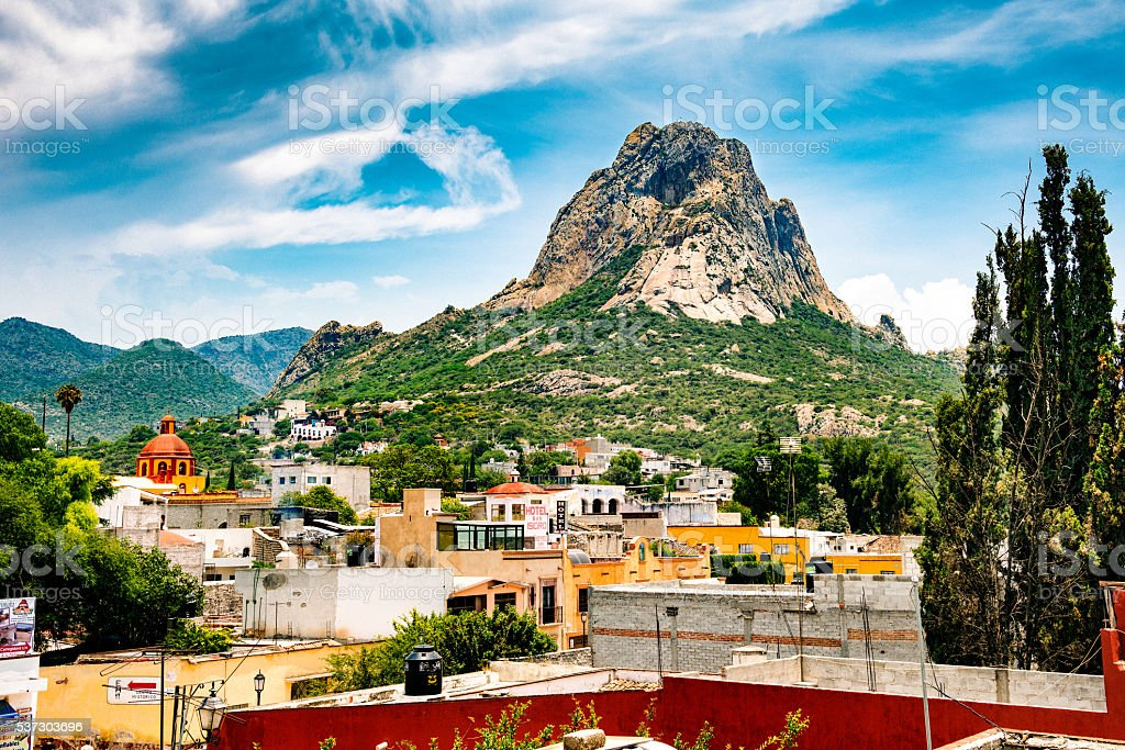 Peña Bernal Mexico stock photo