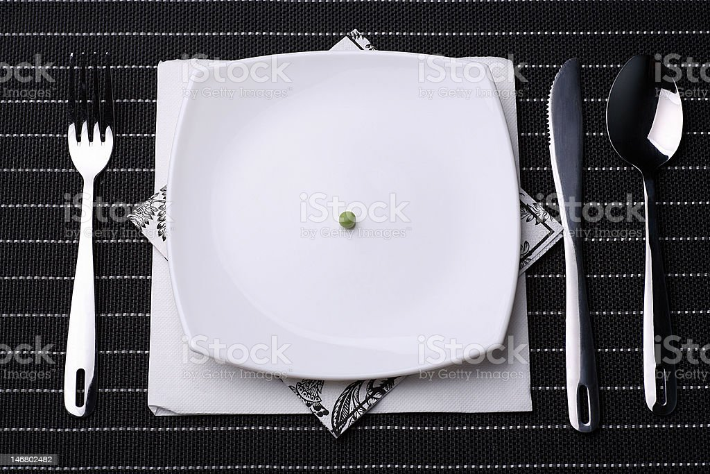pea on a plate royalty-free stock photo