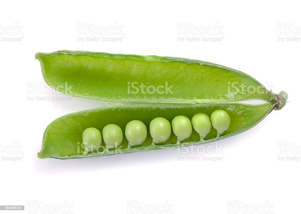 Pea on white royalty-free stock photo
