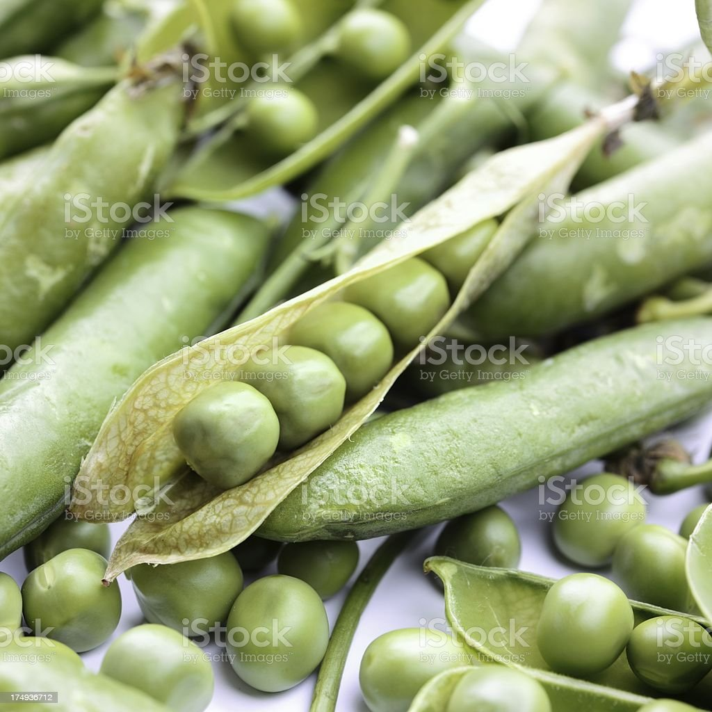 Pea pods royalty-free stock photo