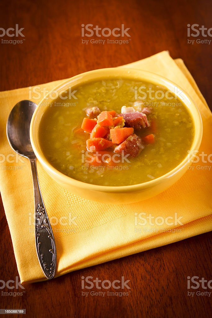 Pea soup above stock photo