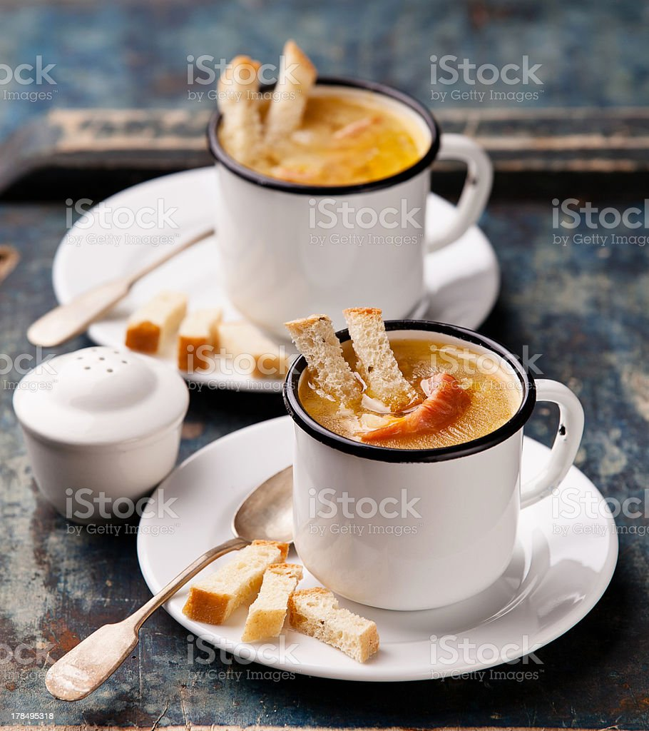 Pea soup stock photo