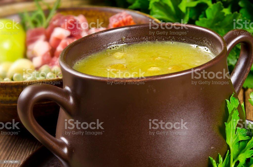 pea soup royalty-free stock photo