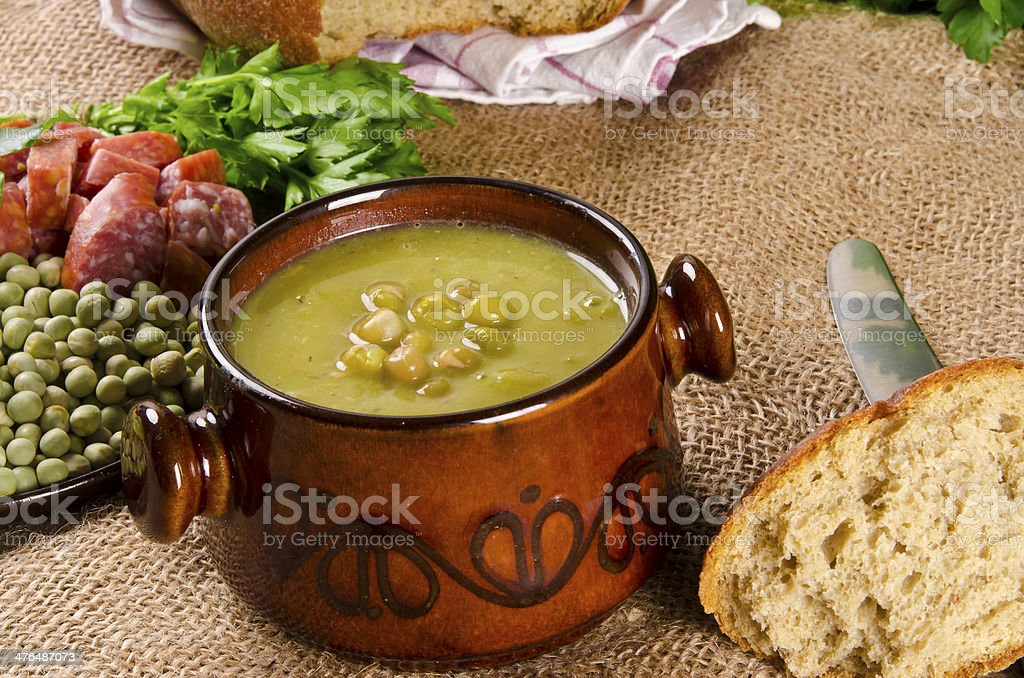 pea soup royalty-free stock photo