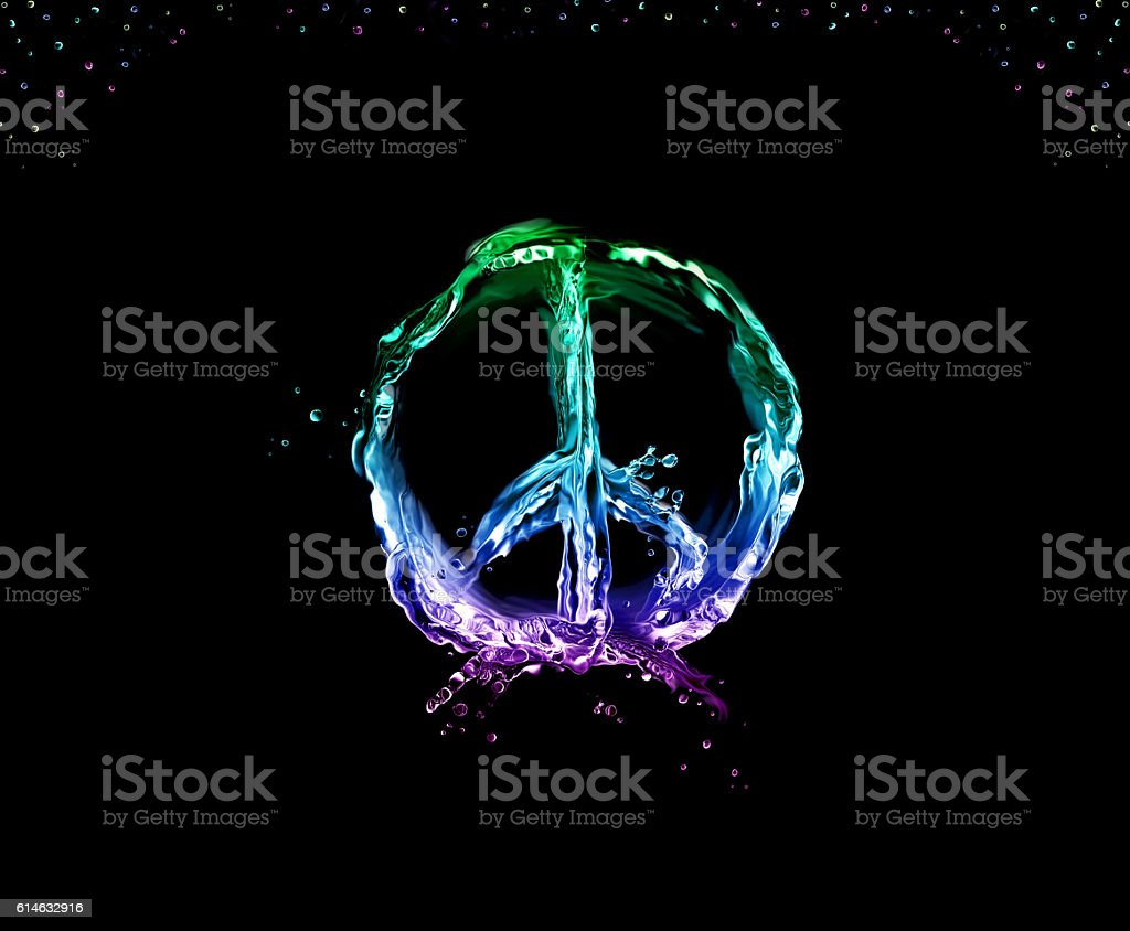 Peace and Love on Black royalty-free stock photo
