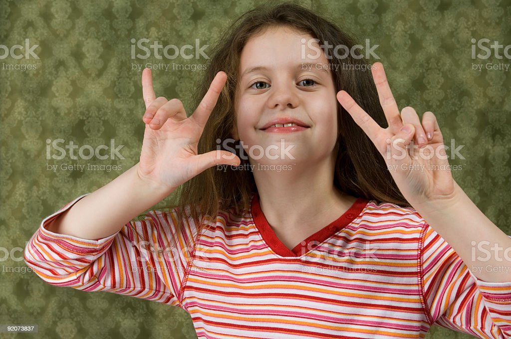 Peace and Love royalty-free stock photo