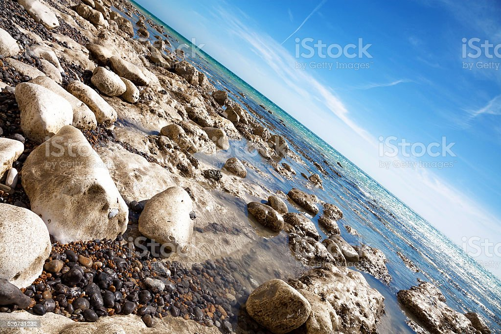 Peace and quiet view of sea stock photo