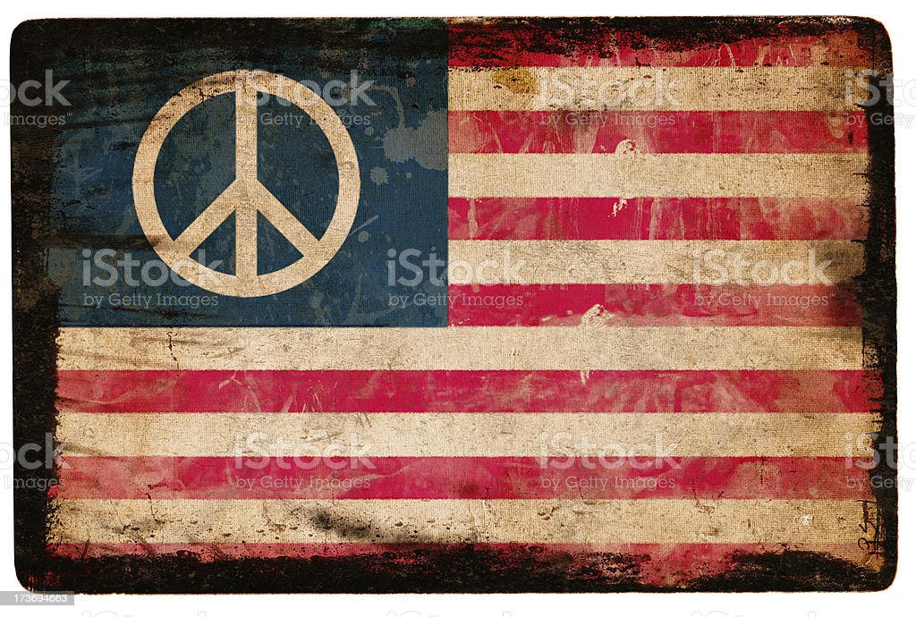 Peace and stripes, royalty-free stock photo