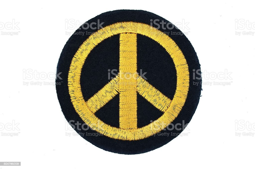 peace badge stock photo