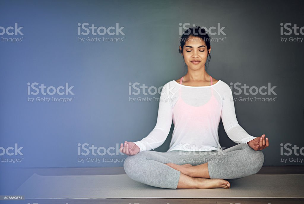 Peace begins with me stock photo