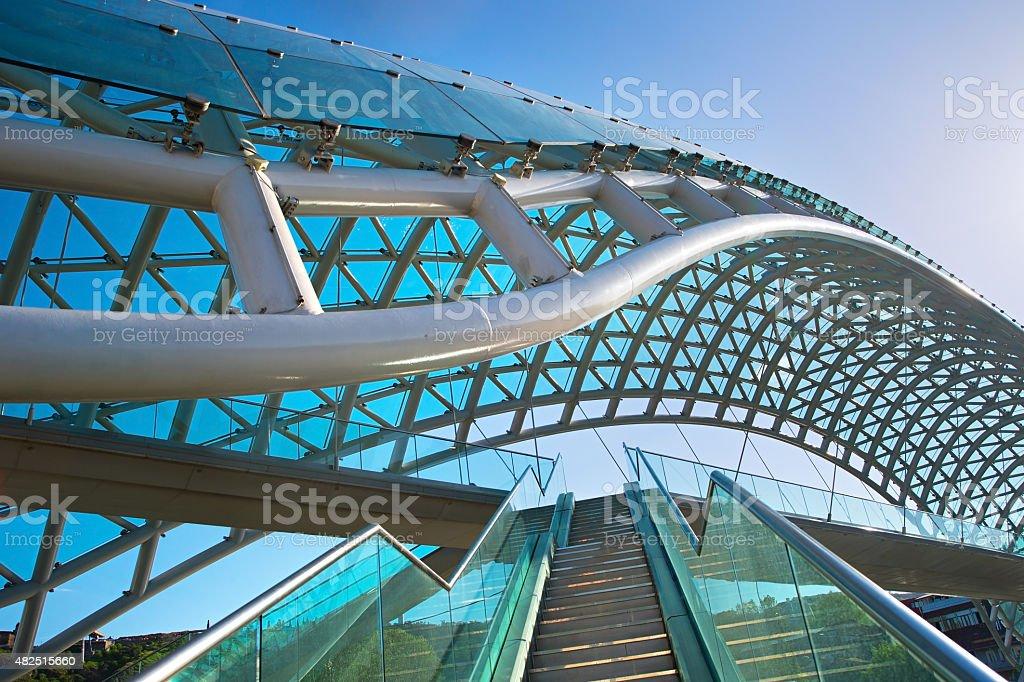 Peace bridge. Tbilisi, Georgia stock photo