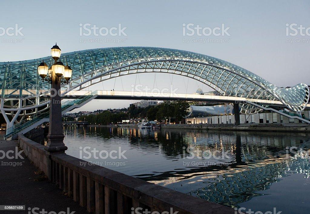 Peace Bridge, Tbilisi stock photo