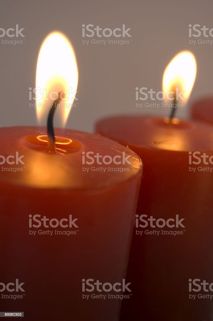Peace Candles stock photo